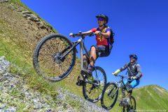 Uphill im Bike-Park Samnaun