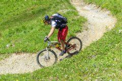 Spaß beim Downhill