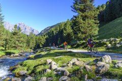 Idyllische Fahrt im schweizer Nationalpark