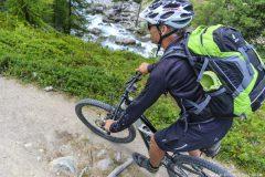 Trail-Downhill nach St. Moritz