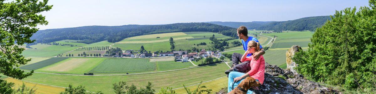 Toller Ausblick über das Ur-Donautal am Sommerfelsen bei Dollnstein