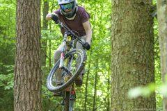 Mountainbike Freestyle-Flugshow