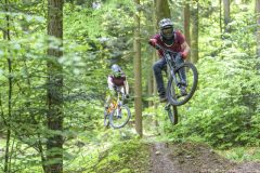 Mountainbike Freestyle-Flugshow
